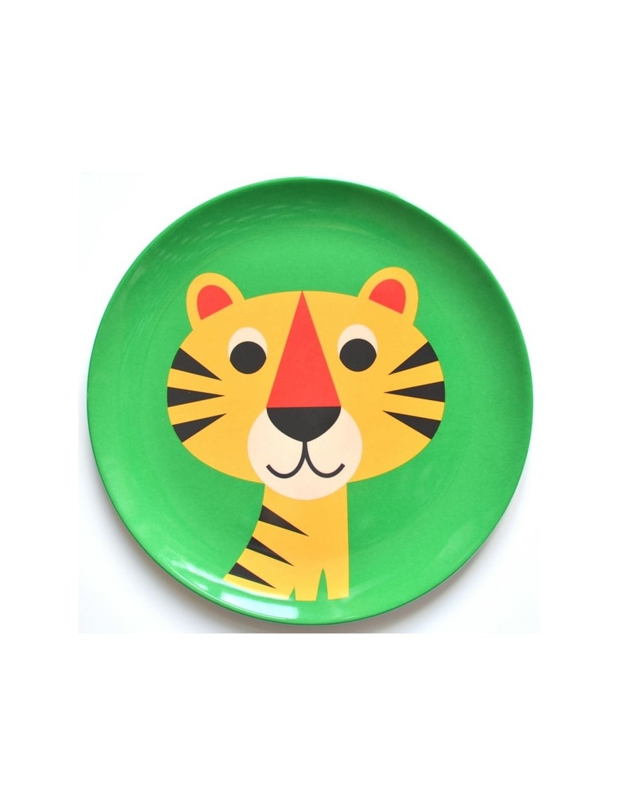 Assiette enfant mélamine tigre Ingela P. Arrhenius - OMM DESIGN
