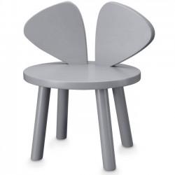 Chaise enfant Mouse - grise