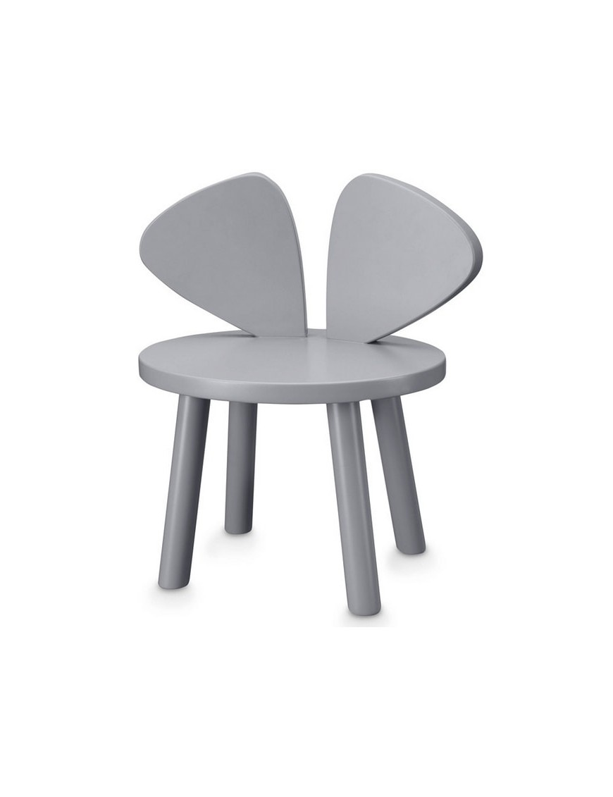 Chaise enfant Mouse - grise