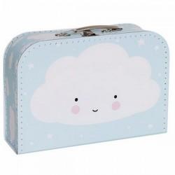 A Little Lovely Company - suitcase: cloud (blue)