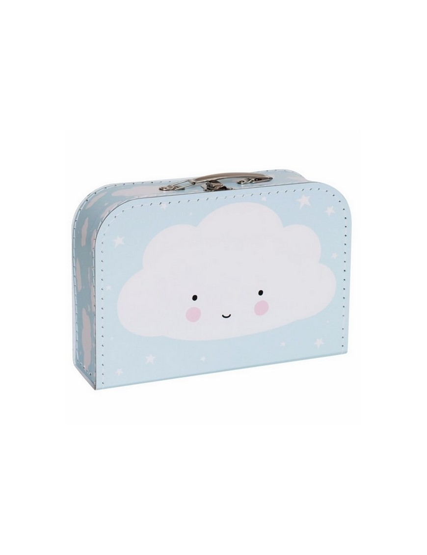 A Little Lovely Company - suitcase: cloud (blue)