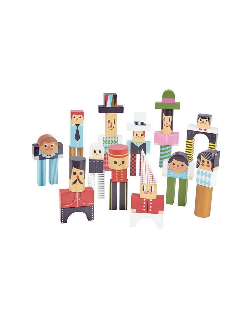 Ingela P Arrhenius - les bonhommes en cubes | jouets Vilac