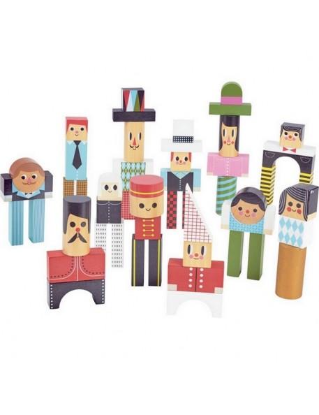 Ingela P Arrhenius - les bonhommes en cubes (50pcs) | jouets Vilac