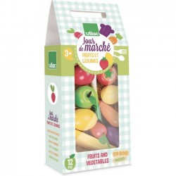 "Wooden fruits & vegetables toy set ""jour de marché"" - Vilac"