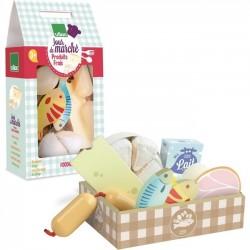 """Wooden fresh food set """"jour de marché"""" - Vilac toys"""