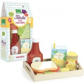 """Wooden snackbreak set """"jour de marché"""" - Vilac toys"""