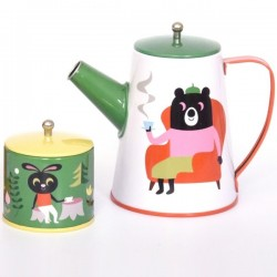 Ingela p Arrhenius - animal tin tea set - omm design