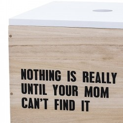 Bloomingville - storage box : nature/white (set x2)