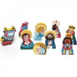 "figurines en bois crêche de Noël : ""nativity set"" - Petit Monkey"