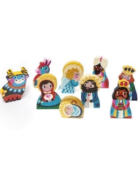"""figurines en bois crêche de Noël : """"nativity set"""" - Petit Monkey"""