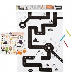 "Olli Ella - Coloriage créatif Playpa ""circuit"" (45 x 8 m)"