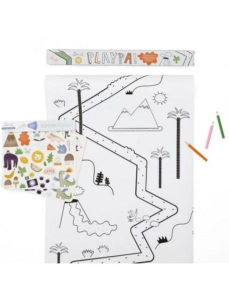 "Olli Ella - Coloriage créatif Playpa ""jungle"" (45 x 8 m)"