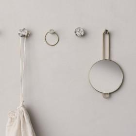 "Ferm living - brass hand mirror ""Poise"""