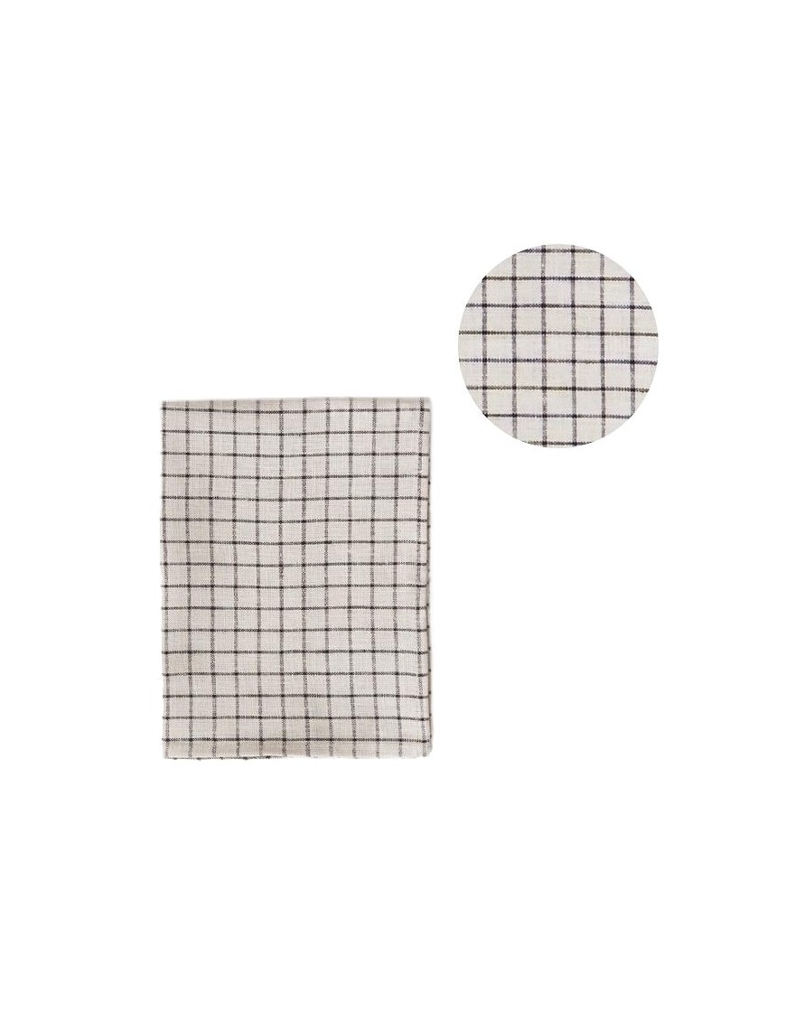 torchon-pur-lin-lave-à-carreaux-grid-FOG-LINEN-WORK-marque-japonaise