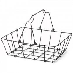 "FOG LINEN - panier fil d'acier noir ""grocery"" medium"