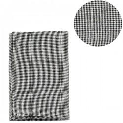 """Linen kitchen cloth: """"black toothhound checks"""" - FOG LINEN WORK"""