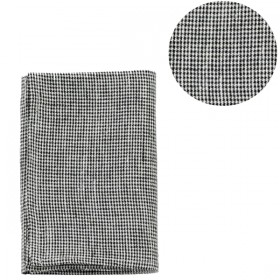 "Linen kitchen cloth: ""black toothhound checks"" - FOG LINEN WORK"