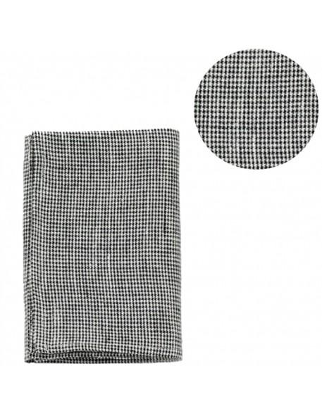 torchon lin lavé : mini vichy noir (65x45cm) - FOG LINEN WORK