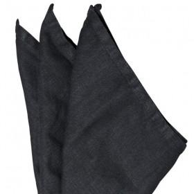 Serviette de table lin lavé : noir - Byon / On Interior