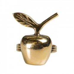 napkin ring : apple (gold) - On Interior