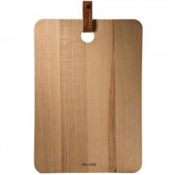 planche à découper en bois & cuir (Village) - On Interior