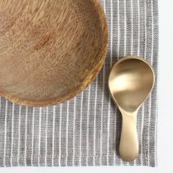 Cuillère à thé en laiton (8x3,5cm) - FOG LINEN
