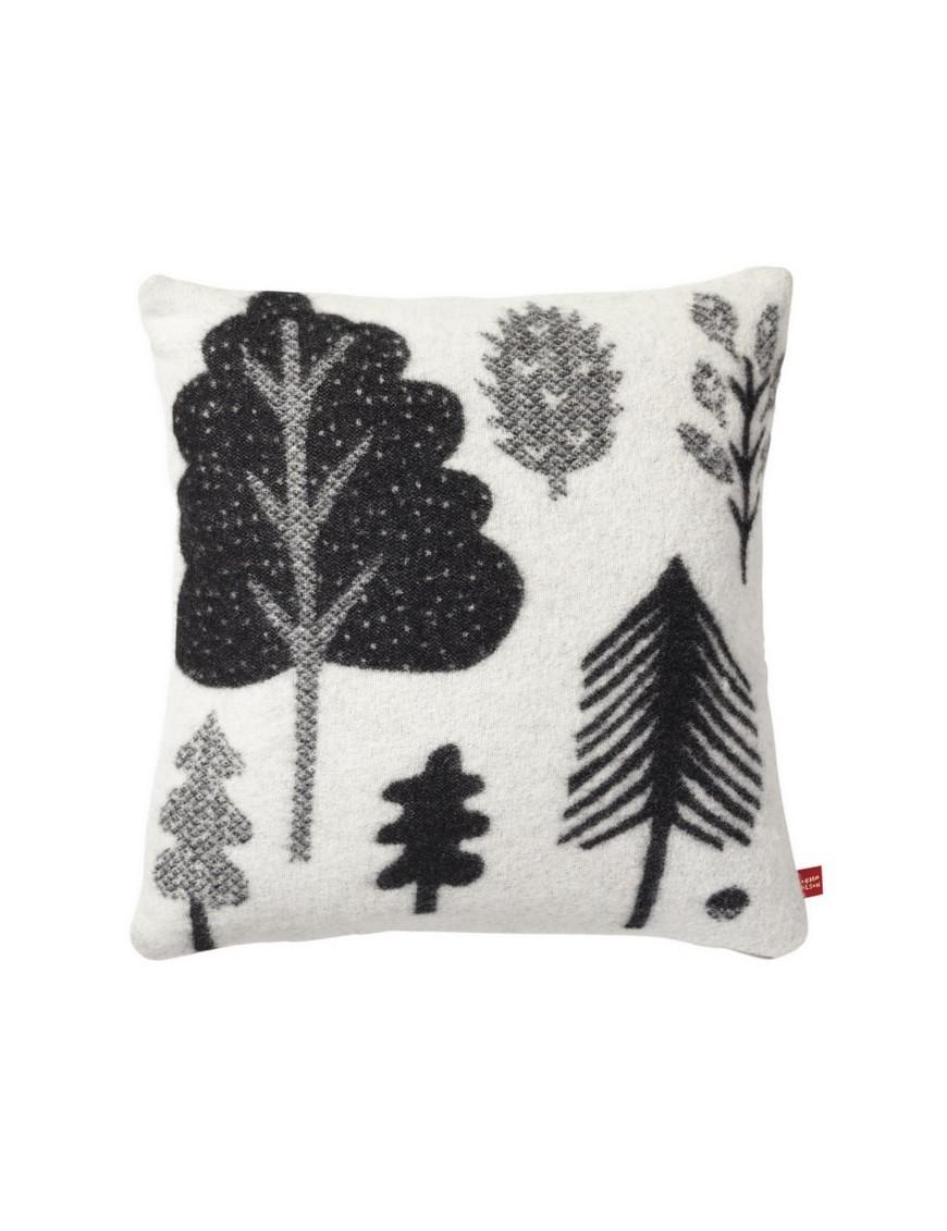 Donna Wilson - coussin laine forêt : noir & blanc