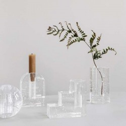 Ferm living bubble glass vase - cylinder
