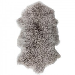 goat fur rug tibetan (50X90) grey - Byon / On Interior