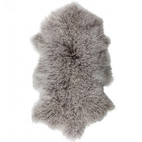 goat fur rug tibetan (50X90) grey - Byon / On Interior