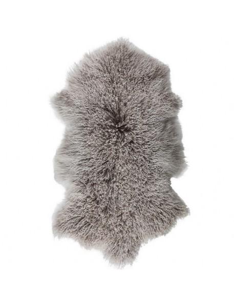 tapis peau chèvre du Tibet grise - Byon / On Interior