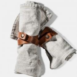 rond de serviette cuir naturel (set x2) - Village / On Interior