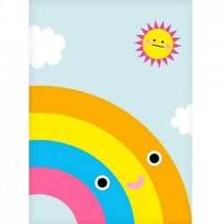 """NOODOLL Affiche """"Happy rainbow"""" (A2 : 42x59cm)"""