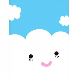 NOODOLL - Happy Cloud print (A2)