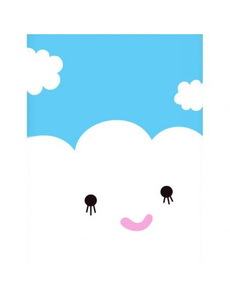 """NOODOLL Affiche """"happy Cloud"""" (A2 : 42x59cm)"""