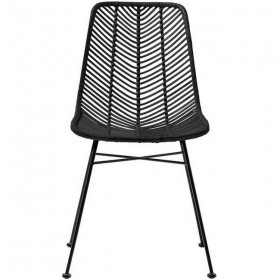 "black rattan chair ""Lena"" - Bloomingville"