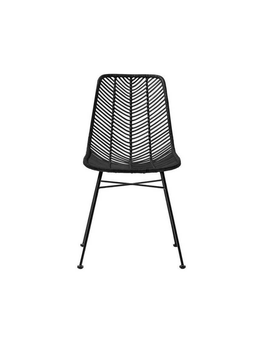 chaise rotin noir lena bloomingville - Chaise En Rotin