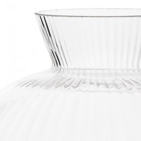 BLOOMINGVILLE - Vase boule en verre transparent Ø11xH11.5 cm
