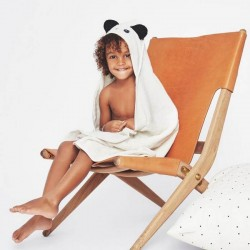 Liewood - hooded panda baby towel