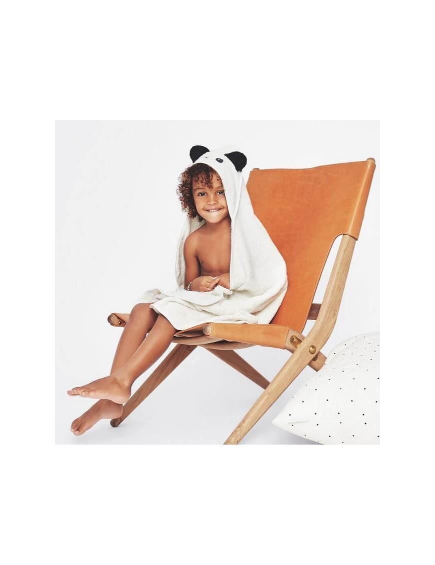 Liewood - hooded panda baby towel
