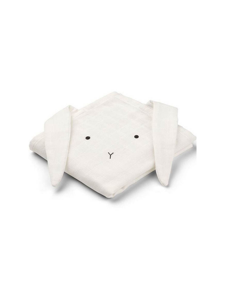 Lange Liewood lapin, blanc (x2)