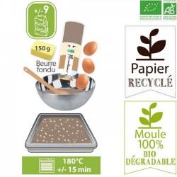 Organic baking mix: brownie set