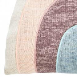 Oyoy rainbow knitted cushion