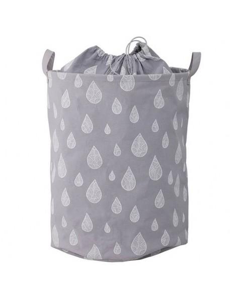 """Bloomingville - panier coton gris : """"drops"""" (Ø40xH50 cm)"""