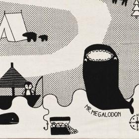 "OYOY - rug ""Mr Megalodon adventure"" (150x90cm)"