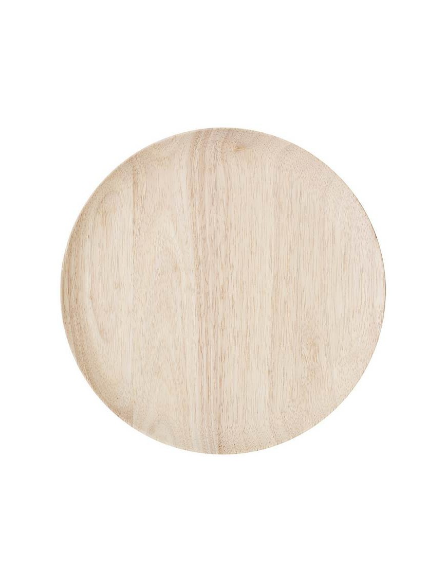 BLOOMINGVILLE - round rubber wood tray Ø30 cm