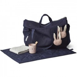 Liewood - diaper bag: navy mommy bag - Melvin