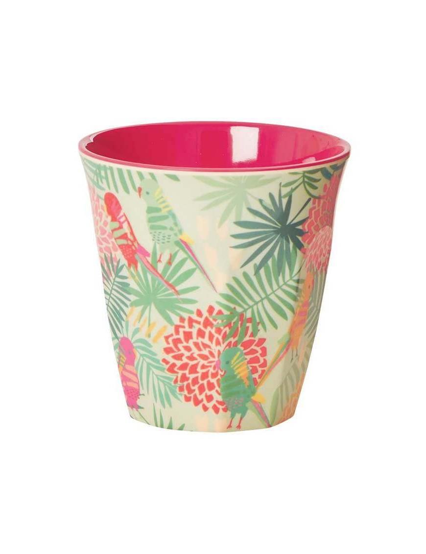 "Gobelet RICE : verre mélamine ""tropical"" (medium)"