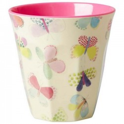Rice - melamine cup: butterfly (medium)