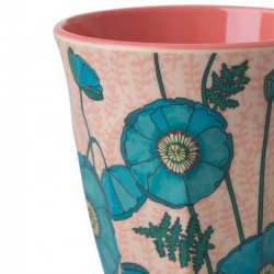 Rice - melamine cup: Poppy Rose (medium)